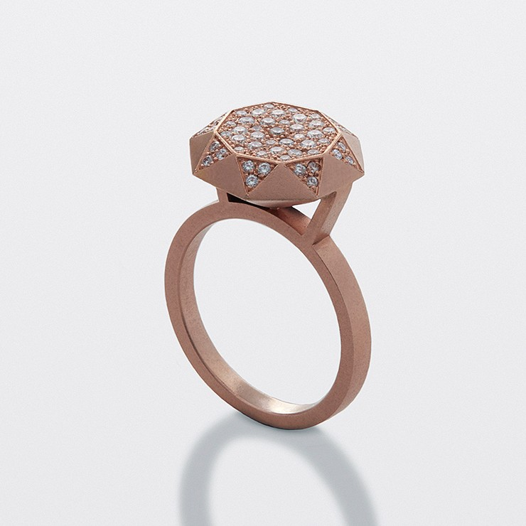Diamond Ring - Red Gold