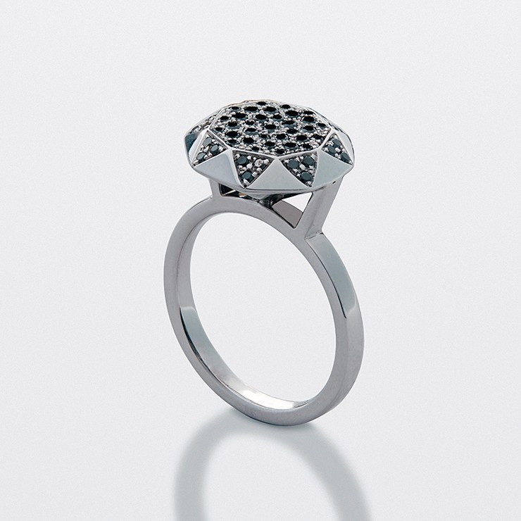Diamond Ring - White Silver